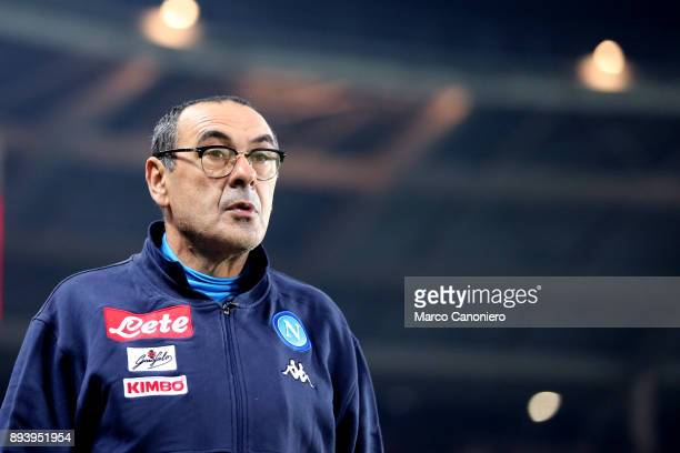 Maurizio Sarri head coach of Ssc Napoli looks on before the Serie A football match between Torino FC and Ssc Napoli Ssc Napoli wins 31 over Torino Fc