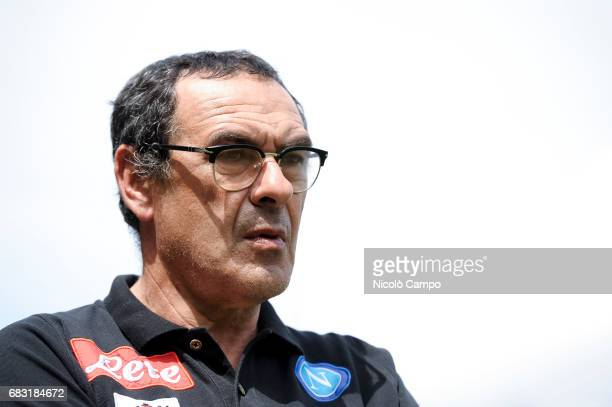 Maurizio Sarri head coach of SSC Napoli looks on prior to the Serie A football match between Torino FC and SSC Napoli SSC Napoli wins 50 over Torino...