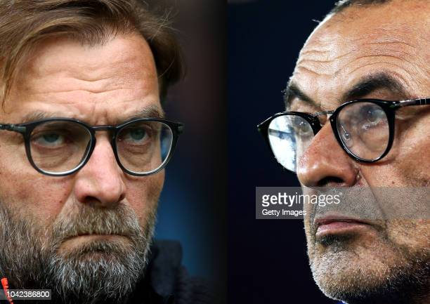 COMPOSITE OF IMAGES Image numbers 6690659861040951966 GRADIENT ADDED In this composite image a comparison has been made between Jurgen Klopp Manager...