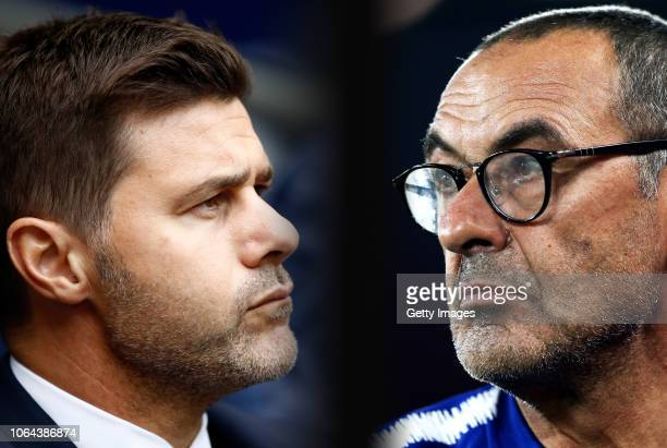 COMPOSITE OF IMAGES Image numbers 10187197941040951966 GRADIENT ADDED In this composite image a comparison has been made between Mauricio Pochettino...