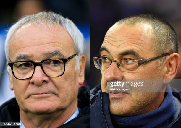 COMPOSITE OF IMAGES Image numbers 10648786781064777648 In this composite image a comparison has been made between Claudio Ranieri manager of Fulham...