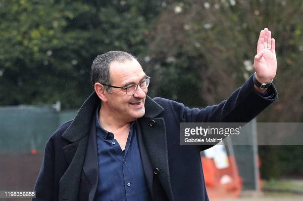"""Maurizio Sarri manager of Juventus during the """"Panchina D'Oro Prize"""" award at Centro Tecnico Federale di Coverciano on February 3, 2020 in Florence,..."""