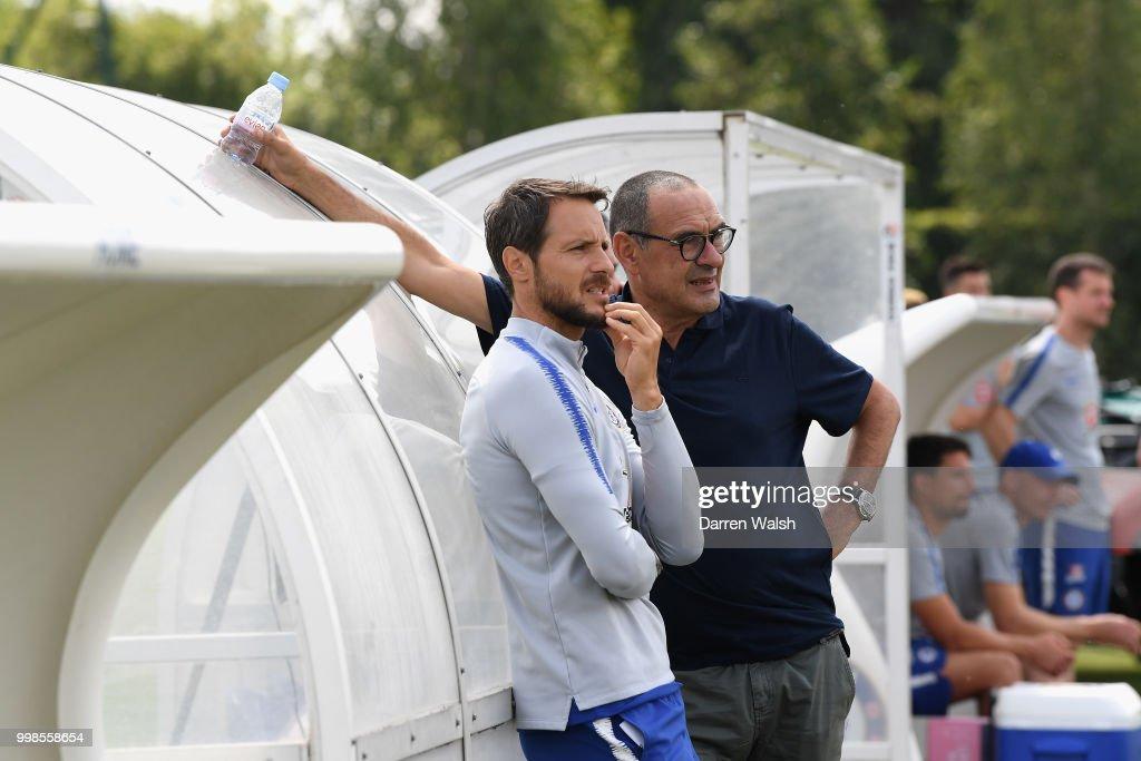 Image result for Maurizio Sarri with Carlo cudicini and jorginho