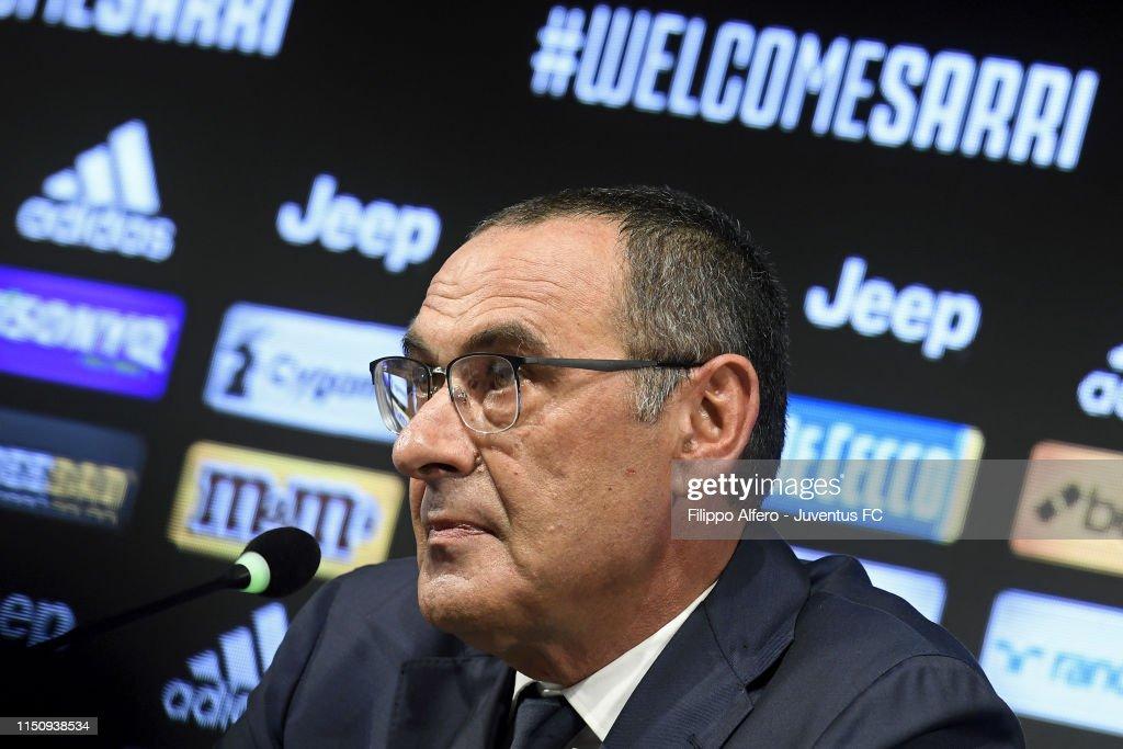 Juventus Unveils New Head Coach Maurizio Sarri : News Photo