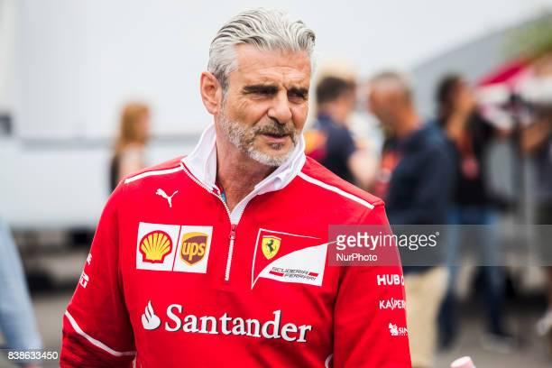 Maurizio scuderia Ferrari team principal during the Formula One Belgian Grand Prix at Circuit de SpaFrancorchamps on August 24 2017 in Spa Belgium