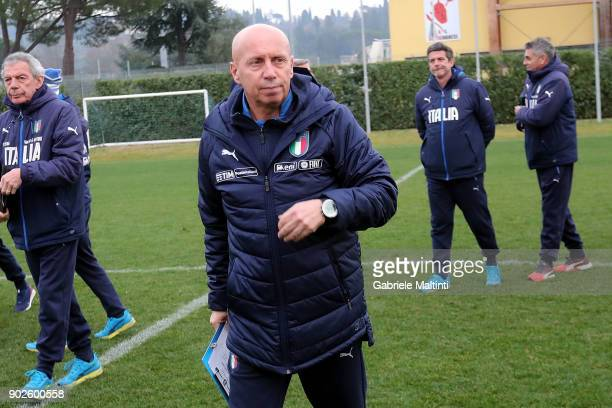 Maurizio Viscidi coordinator of the FIGC national youth teams during the at Coverciano 'Torneo Dei Gironi' Italian Football Federation U18 Tournament...