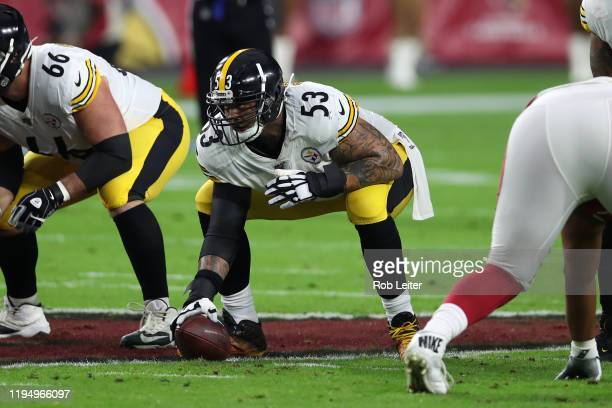 Maurkice Pouncey of the Pittsburgh Steelers in action during the game against the Arizona Cardinals at State Farm Stadium on December 8, 2019 in...