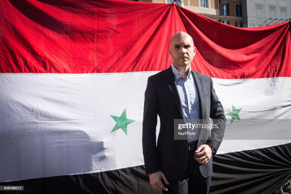 CasaPound Protest Against Attacks In Syria by USA