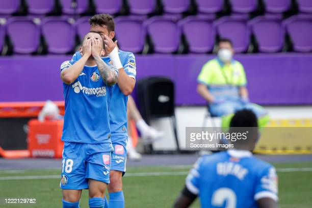 Mauro Arambarri of Getafe during the La Liga Santander match between Real Valladolid v Getafe at the José Zorrilla stadium on June 23, 2020 in...