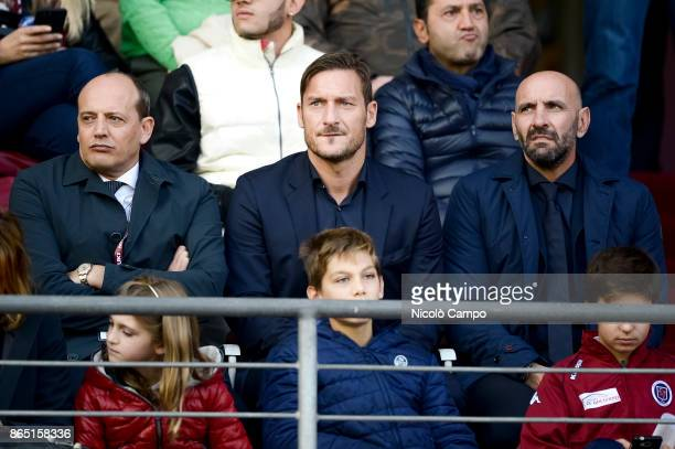 Mauro Baldissoni Francesco Totti and Monchi attend the Serie A football match between Torino FC and AS Roma AS Roma won 10 over Torino FC
