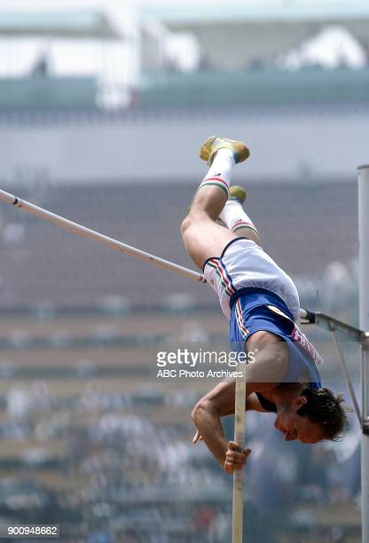 Mauro Barella Men's pole vault competition Memorial Coliseum at the 1984 Summer Olympics August 8 1984