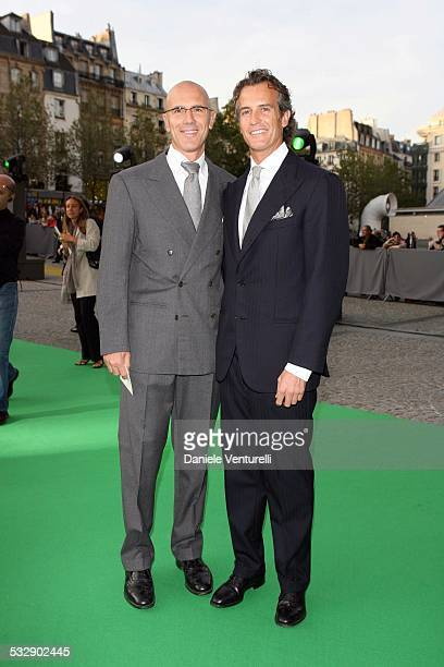 Mauro Benetton and Alessandro Benetton during United Colors of Benetton 40th Anniversary Fashion Show at Centre Pompidou in Paris France
