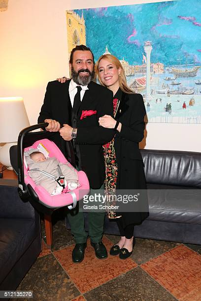Mauro Bergonzoli and his partner Franziska FuggerBabenhausen and their daughter Victoria Gunilla FuggerBabenhausen during the Mauro Bergonzoli 'Jakob...