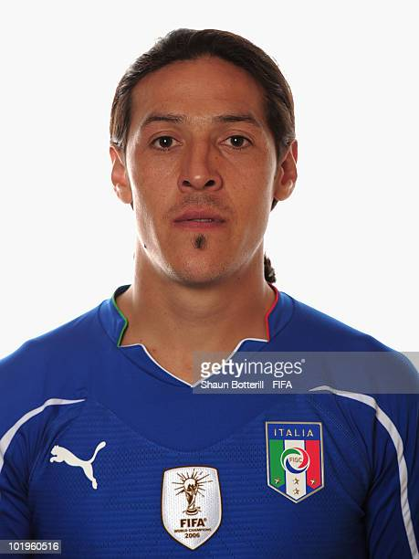 Mauro Camoranesi of Italy poses during the official FIFA World Cup 2010 portrait session on June 10 2010 in Pretoria South Africa