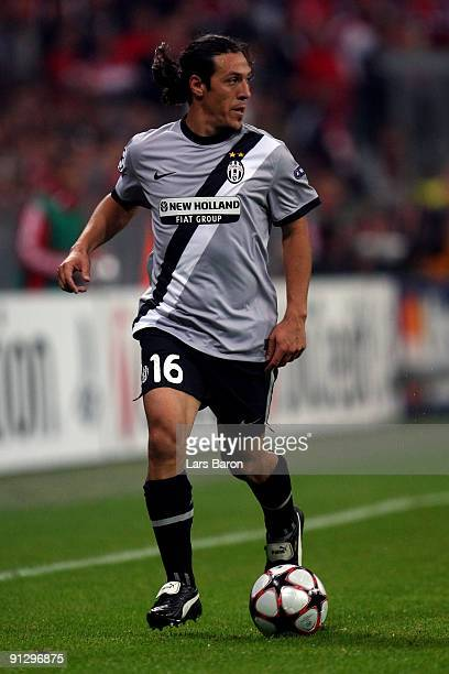 Mauro Camoranesi of Turin runs with the ball during the UEFA Champions League Group A match between FC Bayern Muenchen and Juventus Turin at Allianz...