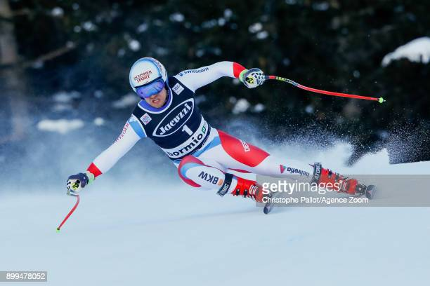 Mauro Caviezel of Switzerland competes during the Audi FIS Alpine Ski World Cup Men's Combined on December 29, 2017 in Bormio, Italy.