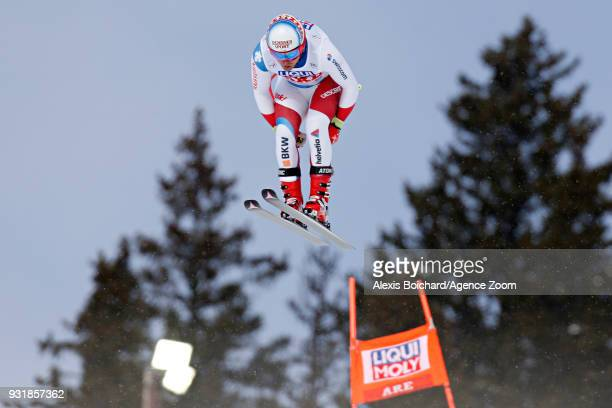 Mauro Caviezel of Switzerland competes during the Audi FIS Alpine Ski World Cup Finals Men's and Women's Downhill on March 14 2018 in Are Sweden