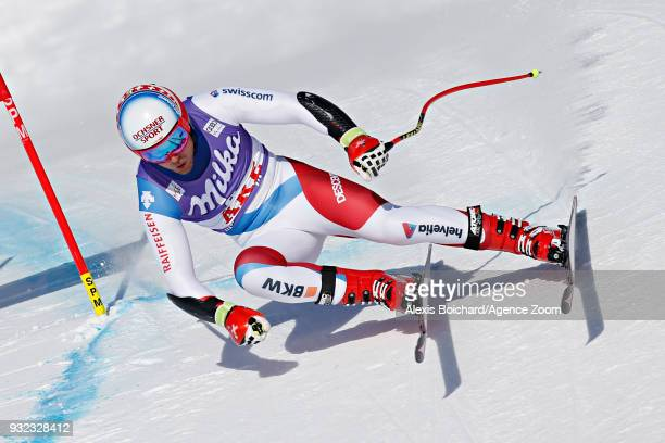 Mauro Caviezel of Switzerland competes during the Audi FIS Alpine Ski World Cup Finals Men's and Women's Super G on March 15 2018 in Are Sweden