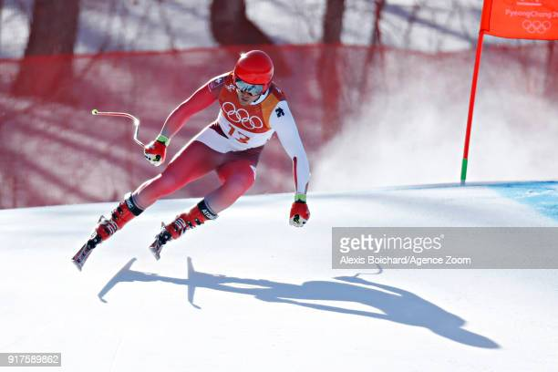Mauro Caviezel of Switzerland in action during the Alpine Skiing Men's Combined at Jeongseon Alpine Centre on February 13 2018 in Pyeongchanggun...