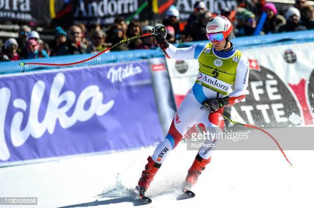 Mauro Caviezel of Switzerland Ski Team during Mens SuperG Audi FIS Ski World Cup race on March 14 2019 in El Tarter Andorra