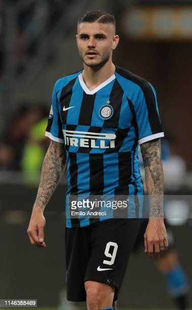 Mauro Emanuel Icardi of FC Internazionale looks on during the Serie A match between FC Internazionale and Empoli FC at Stadio Giuseppe Meazza on May...