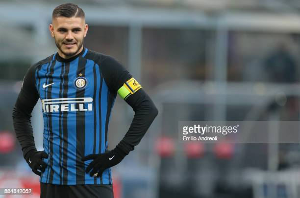 Mauro Emanuel Icardi of FC Internazionale Milano looks on during the Serie A match between FC Internazionale and AC Chievo Verona at Stadio Giuseppe...