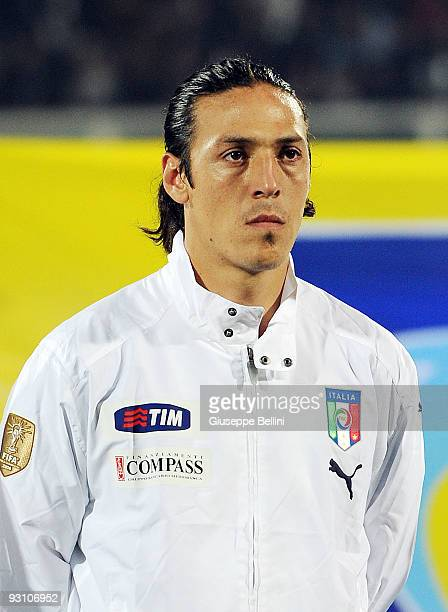 Mauro German Camoranesi of Italy before the International Friendly Match between Italy and Holland at Adriatico Stadium on November 14 2009 in...