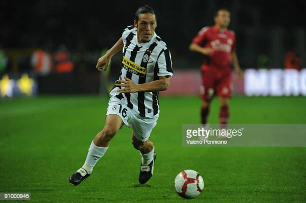 Mauro German Camoranesi of Juventus FC in action during the Serie A match between Juventus FC and AS Livorno at Olimpico Stadium on September 19 2009...