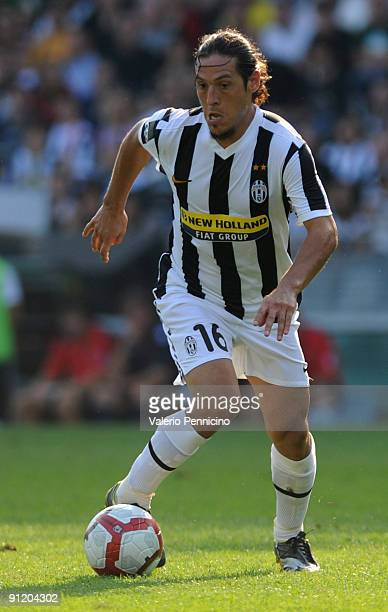 Mauro German Camoranesi of Juventus FC in action during the Serie A match between Juventus FC and Bologna FC at Olimpico Stadium on September 27 2009...