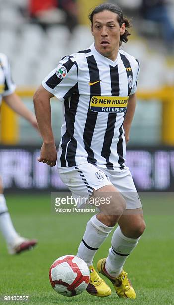 Mauro German Camoranesi of Juventus FC in action during the Serie A match between Juventus FC and Cagliari Calcio at Stadio Olimpico on April 11 2010...