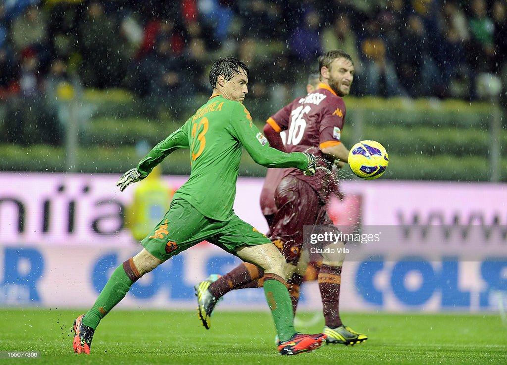 Mauro Goicoechea of AS Roma in action during the Serie A match between Parma FC and AS Roma at Stadio Ennio Tardini on October 31, 2012 in Parma, Italy.