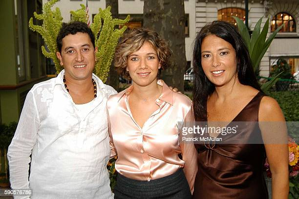 Mauro Gomes Angelica Gomes and Jennifer Pfeiffer attend Magnolia Opens First Couture Flower / Plant Kiosk In Bryant Park at Magnolia Kiosk on August...