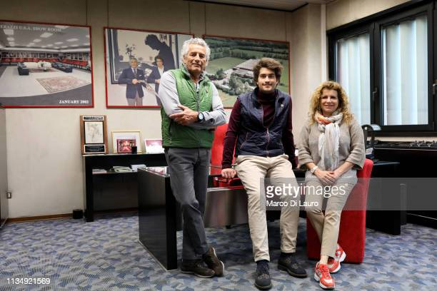 Mauro his son Nicola and his sister Roberta Perazzi are seen in the office of Mauro and Roberta's father Daniele the founder of the Perazzi Armi on...