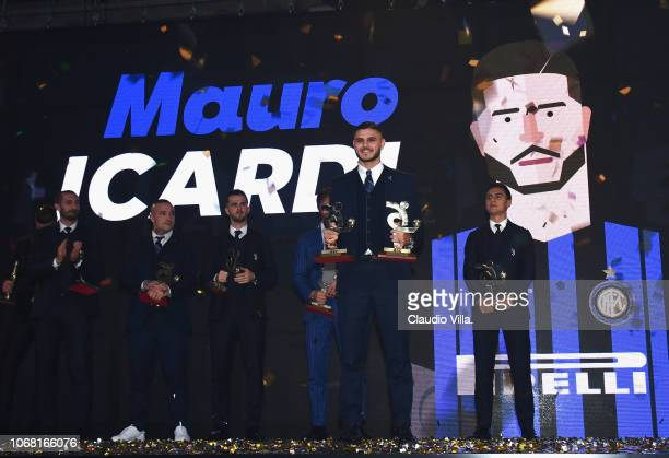 Mauro Icardi attends the Gran Gala Del Calcio 2018 on December 3 2018 in Milan Italy