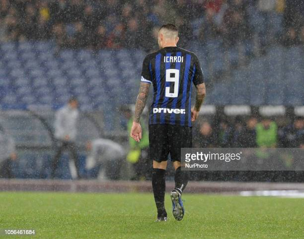 Mauro Icardi during the Italian Serie A football match between SS Lazio and Inter at the Olympic Stadium in Rome on october 29 2018