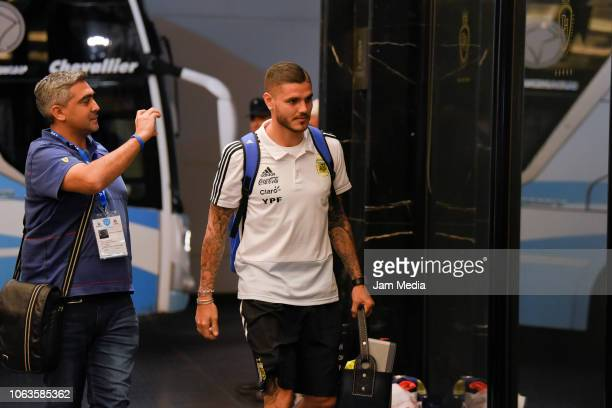 Mauro Icardi of Argentina arrives to Diplomatic Hotel on November 19 2018 in Mendoza Argentina Argentina will face Mexico on November 20th as part of...