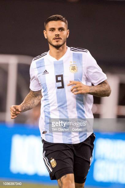 Mauro Icardi of Argentina in action during the Argentina Vs Colombia International Friendly football match at MetLife Stadium on September 11th 2018...