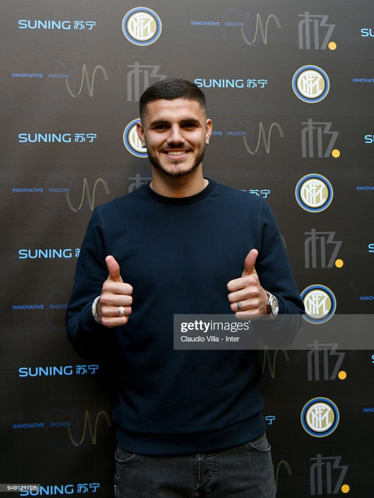 Mauro Icardi Visits FC Internazionale 'Innovative Passion' Concept At Milan Design Week 2018