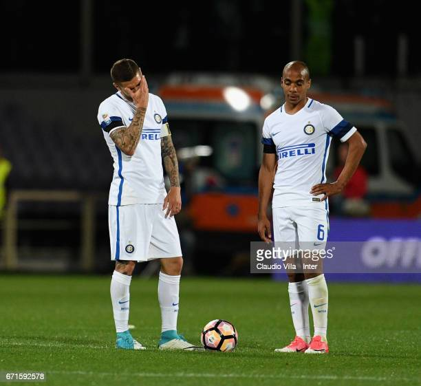 Mauro Icardi of FC Internazionale dejected during the Serie A match between ACF Fiorentina v FC Internazionale at Stadio Artemio Franchi on April 22...