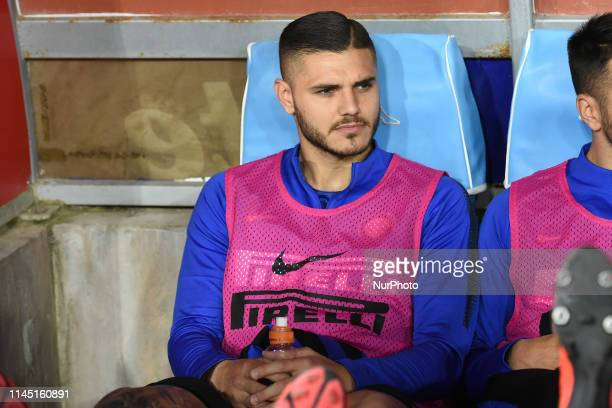 Mauro Icardi of FC Internazionale during the Serie A TIM between SSC Napoli and FC Internazionale at Stadio San Paolo Naples Italy on 19 May 2019