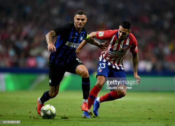 Mauro Icardi of FC Internazionale in action during the International Champions Cup 2018 match between Atletico Madrid and FC Internazionale at...