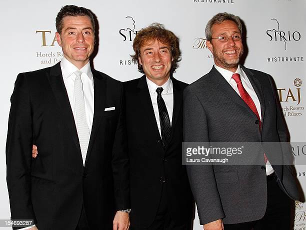 Mauro Maccioni Marco Maccioni and Mario Maccioni attend Sirio Ristorante Grand Opening at The Pierre Hotel on October 24 2012 in New York City