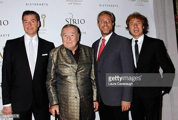 Mauro Maccioni Mario Maccioni Sirio Maccioni and Marco Maccioni attend Sirio Ristorante Grand Opening at The Pierre Hotel on October 24 2012 in New...