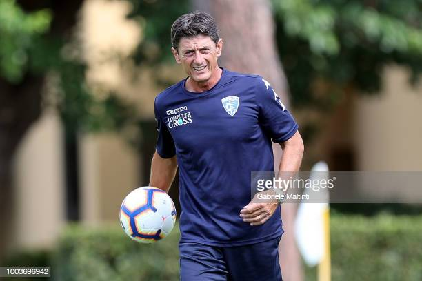 Mauro Marchisio goalkeeping coach Empoli FC during the PreSeason Friendly match between Pro Vercelli and Empoli FC on July 21 2018 in Florence Italy