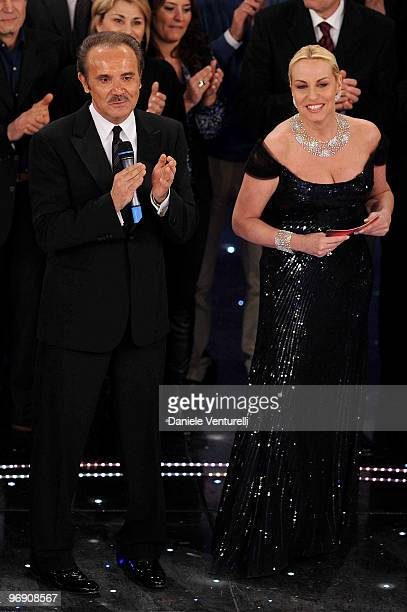 Mauro Masi and Antonella Clerici attend the 60th Sanremo Song Festival at the Ariston Theatre on February 20, 2010 in San Remo, Italy.