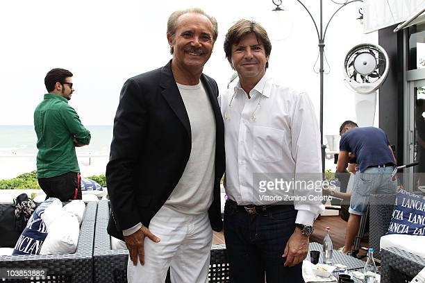 Mauro Masi and Francois Olivier attend the Lancia Cafe during the 67th Venice International Film Festival on September 5, 2010 in Venice, Italy.