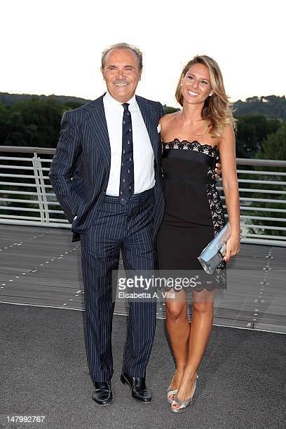 Mauro Masi and Ingrid Muccitelli attends Sarli Couture fashion show A/W 2012 as part of AltaRoma AltaModa at Ponte della Musica on July 6, 2012 in...