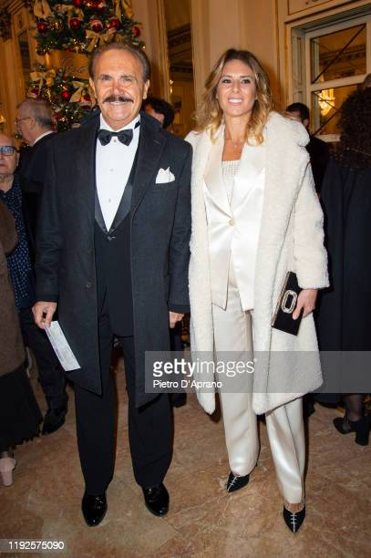 "Mauro Masi and Ingrid Muccitelli attends the ""Prima Alla Scala"" at Teatro Alla Scala on December 07, 2019 in Milan, Italy."