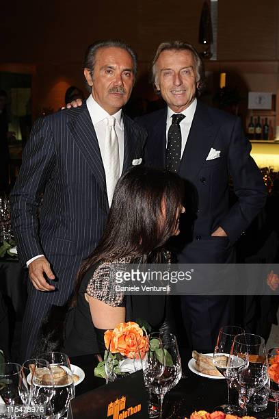 Mauro Masi and Luca Cordero di Montezemolo attend the Charity Gala Telethon during Day 8 of the 4th International Rome Film Festival held at the...