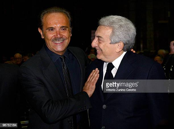 Mauro Masi and Michele Guardi attend 'I Promessi Sposi' Reading held at the Duomo of Milan on April 29, 2010 in Milan, Italy.